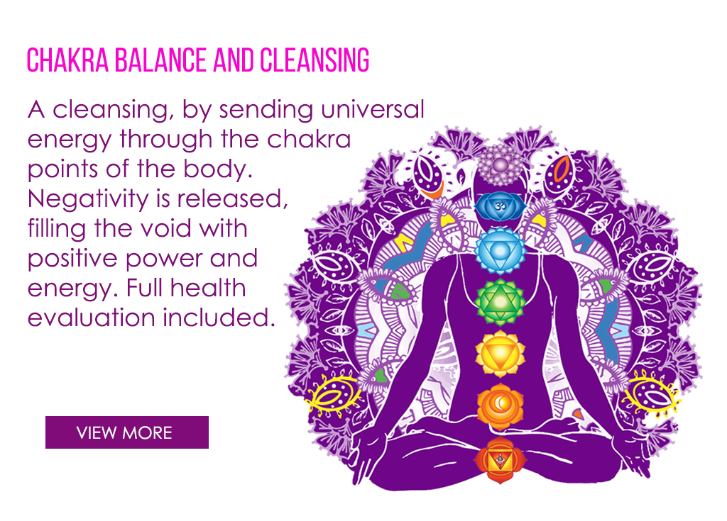 services also include chakra balancing